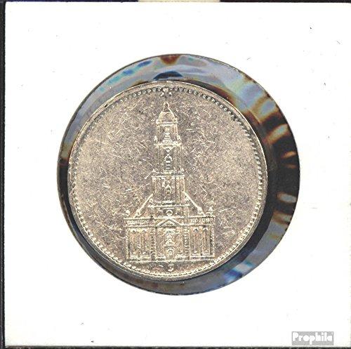 Deutsches Reich Jägernr: 357 1935 G sehr schön Silber sehr schön 1935 5 Reichsmark Garnisonskirche ohne D (Münzen für Sammler)