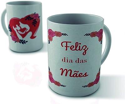 Caneca Feliz dia das Mães rosas