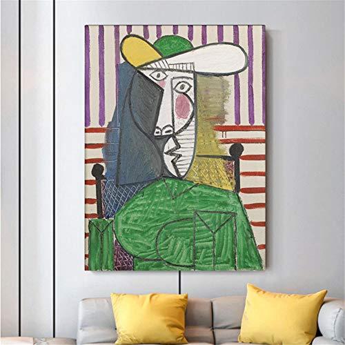 arteWOODS Picasso Guernica Gemälde Drucken Leinwand Kunstdrucke Picasso Artwork Gemälde Wandbilder Wohnkultur 50x70cm Kein Rahmen