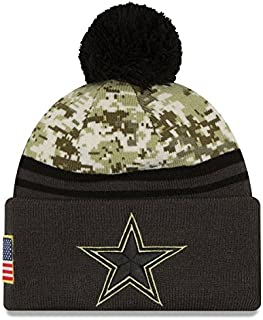 New Era 100% Authentic, NWT, Dallas Cowboys 2016 NFL Salute to Service Pom Knit Hat