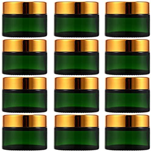 Hemoton Tarro de Vidrio Vacío para Crema: 12 Unidades de Recipiente Portátil de 30G para Cosméticos Recipiente de Viaje con Tapas de Rosca para Cremas Tónicos Bálsamo Labial