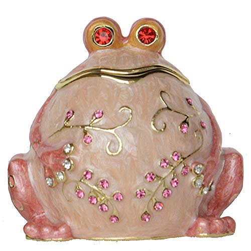 MYZF Ornaments Statues Sculptures Sculptures Statues Ornaments Figurine Collectible Figurines Bullfrog Prince Trinket Box Frog Figurine Ring/Necklace Holder Collectible Gifts