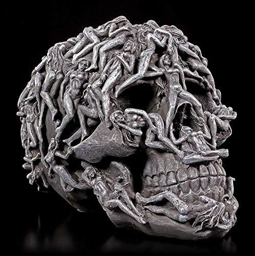 Höllen Totenkopf mit gequälten Seelen - Hell's Desire | Frauenkörper Schädel Figur Gothic