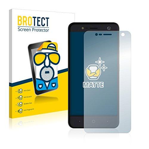 BROTECT 2X Entspiegelungs-Schutzfolie kompatibel mit ZTE Blade V8 Mini Bildschirmschutz-Folie Matt, Anti-Reflex, Anti-Fingerprint