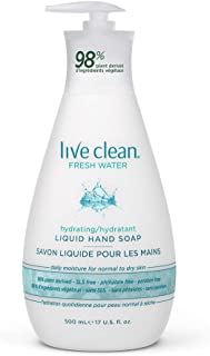 Live Clean Fresh Water Hydrating Liquid Hand Soap, 500 mL