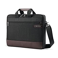 "CONSTRUCTED of rugged ballistic nylon with genuine leather details PADDED LAPTOP compartment fits up to 15.6"" laptop REAR ZIPPERS allow you to have an extra pocket or use it as a SmartSleeve so you can transport Slim Brief on top of upright. BUSINESS..."