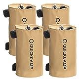 [クイックキャンプ] テント タープ用 注水式 ウエイトバッグ 固定バンド付き 10kg 4個セット サンド QC-TW10