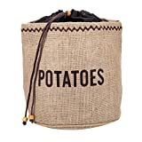 Kitchencraft Bolsa con Forro para Conservar Patatas, Tela, Beige, 26.8x33x2 cm