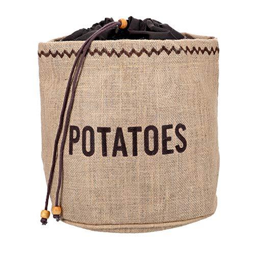 Kitchen Craft Natural Elements Hessian - Sacco per conservare Le Patate con Fodera Oscurante