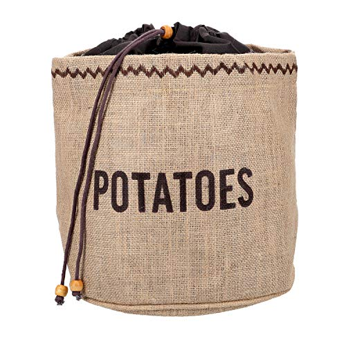 Kitchen Craft Natural Elements Hessian - Sacco per conservare Le Patate con Fodera Oscurante