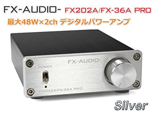 『FX-AUDIO- FX202A/FX-36A PRO『シルバー』TDA7492PEデジタルアンプIC搭載 ステレオパワーアンプ』の2枚目の画像