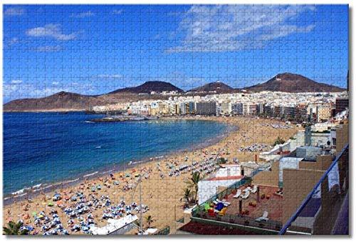 Nicoole España Roque Nublo Las Palmas Gran Canaria Rompecabezas para adultos Niños 1000 piezas Juego de rompecabezas de madera para regalos Decoración del hogar Recuerdos especiales de viaje