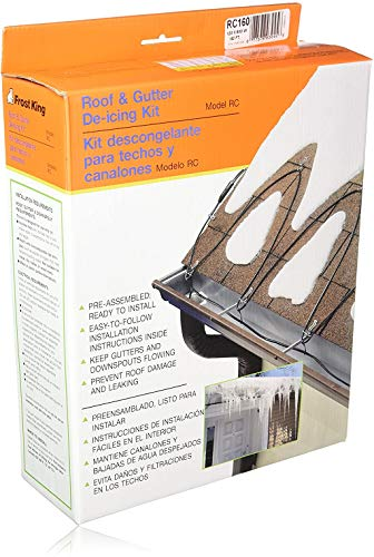 Frost King RC160 Automatic Electric Roof Cable Kits, 160ft x 120V x 5 Watts/ft, 160 Feet, Black