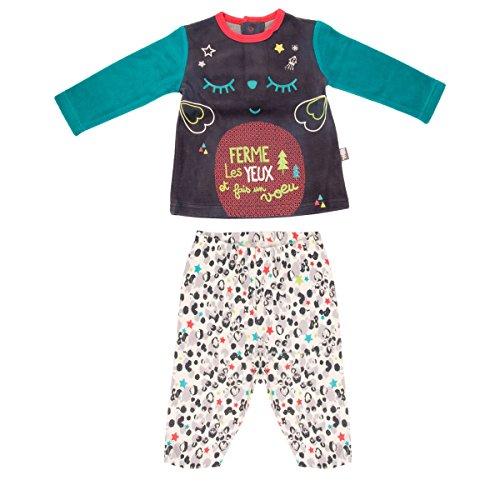 Pijama bebé 2piezas muletón con patas Wish–Talla–6meses (68cm)