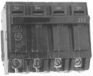 GE Distribution THQMV200WL PowerMark Gold&trade Top Feed Main Circuit Breaker 200 Amp 120 Volt 2-Pole Plug-In Mount