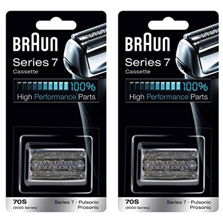 BRAUN ブラウン シリーズ7/プロソニック対応 網刃?内刃一体型カセット 70S (F/C70S-3に対する海外版)2個セット [並行輸入品]