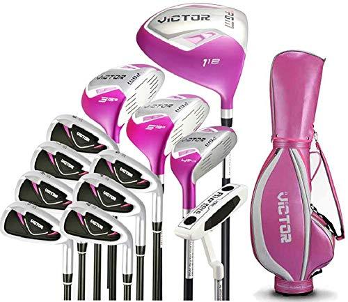 POSMA PGM-LTG007PNK Victor Damen Golfschläger-Set, Standard LTG007, Pink Bag (Victor Female)