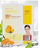 Dermal Korea Collagen Essence Full Face Facial Mask Sheet Pack No5. Vitamin 23g 10pcs