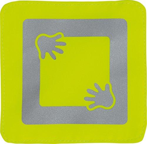 ABUS Junior Care Buggy Reflector - Mike | Seguridad del bebé | Reflectante | Hi Vis | Visibilidad nocturna para cochecitos - Bicicletas - Mochilas | amarillo | 73159