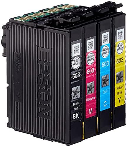Epson Multipack 4 Colores 603   Tinta Original   Cartuchos para: Expression XP-2100, XP-2105, XP-3100, XP-3105, XP-4100, XP-4105 y Workforce WF-2810, WF-2830, WF-2835, WF-2850