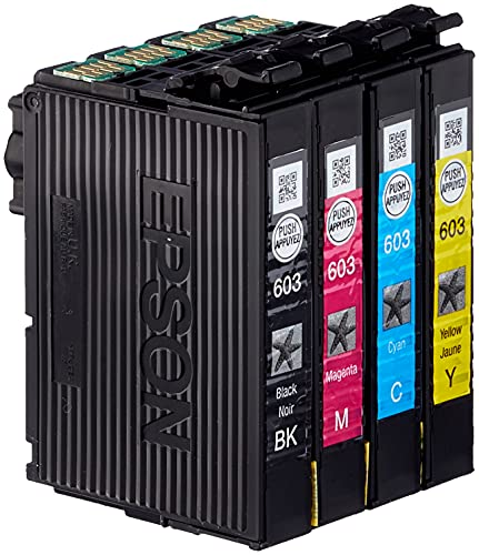 Epson Multipack 4 Colores 603 | Tinta Original | Cartuchos para: Expression XP-2100, XP-2105, XP-3100, XP-3105, XP-4100, XP-4105 y Workforce WF-2810, WF-2830, WF-2835, WF-2850