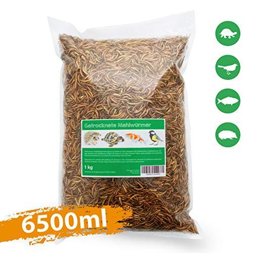 Svänimal 1KG getrocknete Mehlwürmer, Futter für Insektenfresser wie Vögel, Reptilien, Kleintiere, Leckerli