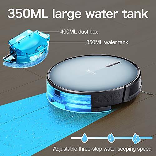 Updated 2020 Version Proscenic 830T WLAN Saugroboter, Staubsauger Roboter (3 in 1: Saugroboter mit Wischfunktion), App- und Alexa Steuerung, 350ML Wassertank,Magnetband für Bereich Begrenzung - 4