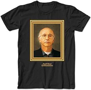 A&E Designs Curb Your Enthusiasm T-Shirt Larry David Portrait Black Tee