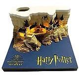 Omoshiroi Block Hogwarts Castle Harry Potter Notepad 3D Memo Pad with Pen Holder (Led Light Version)