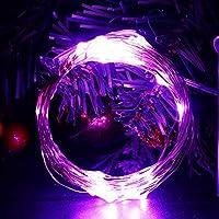 MakoKun LEDストリングライト 20M/200LED 銅線ワイヤー・イルミネーションライト8種類の点灯モード 簡易DIY クリスマス/結婚式/パーティ/学園祭デコレーション クリスマス電飾/室内飾り (パープル 【USB給電式】)