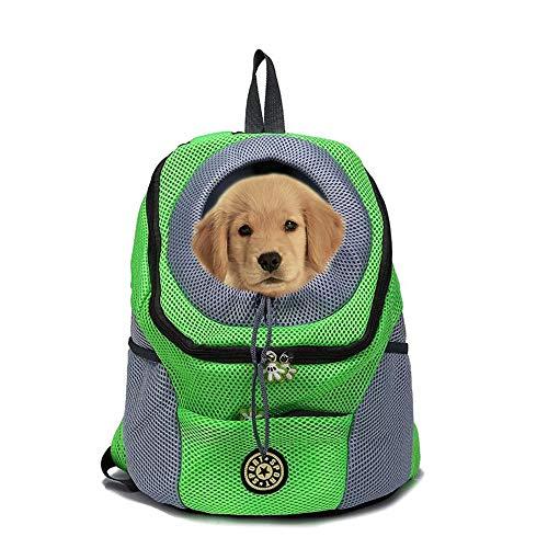 Mochila para Transportar Mascotas para Perros pequeños y Gatos, Bolsa de Viaje para Mascotas con Manos Libres, diseño Transpirable y Parte Inferior Impermeable para Senderismo y Viajes