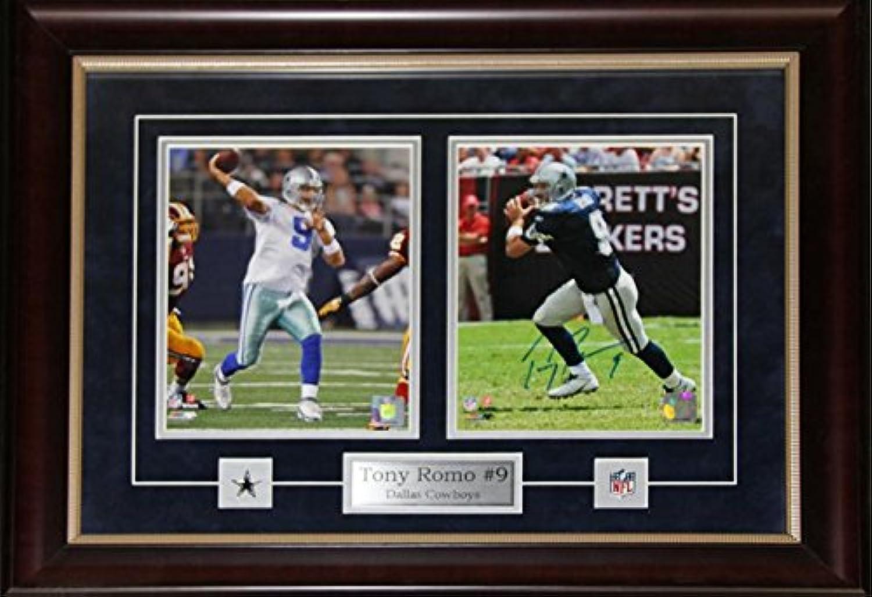 Tony ROMO Dallas Cowboys Signed 2 Photo NFL Football Memorabilia Collector Frame