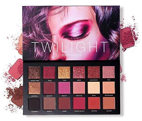 Professional 18 Pigmented Eye shadow, 10 Matte + 8 Shimmer, Velvet Texture...