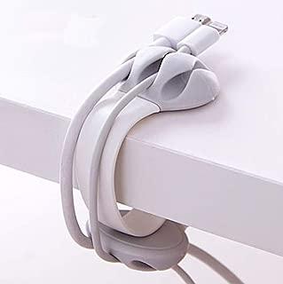 Climb on USBケーブルクリップ コードクリップ 3本固定 ケーブル巻き取り (ホワイト)