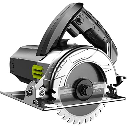 CHENGNAN Eléctrico Sierra Circular 1200W Motor de Cobre Puro Corte en Bisel a 45 ° Profundidad de Corte 30 mm para Madera, Piedra, Metal