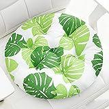 jHuanic 2 cojines redondos para silla de 8 cm de grosor, cojines de asiento para silla de interior y exterior, almohadillas suaves para sillas de comedor para jardín, hogar, oficina (40 x 40 cm, A)