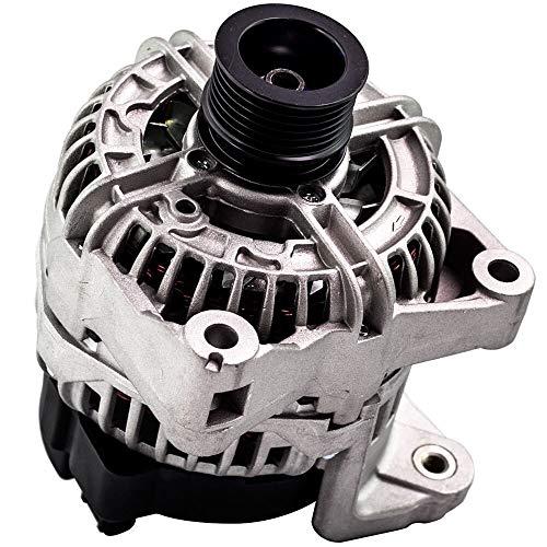LZZJ Alternadores 6 Costillas generadoras alternadoras de automóviles 12311432986 para BMW 325CI 325i 325xi 325ti 728i B3S X5 Z3 (Compact) E46 M54 2494CCM 2000-ON