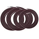 Kecuco 4 Pcs Replacement Cords (Brown) for Zero Gravity Chair, Replacement Laces for Recliners Zero Gravity Chairs Repair Kit for Lounge Chair/Anti Gravity Chair(Brown)