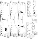 7 Pcs Tshirt Ruler, Graphics T-Shirt Ruler Guide Transparent Tshirt Ruler Guide for Vinyl, PVC Tshirt Ruler for Heat Press, Tshirt Alignment Tool Sublimation Designs for Making Fashion Center Design