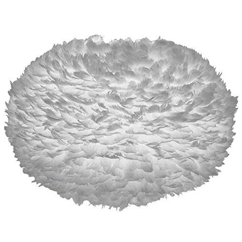 Umage/VITA Eos X-Large Abat-jour gris en plumes d'oie D 75 cm hauteur 45 cm lampe gris clair