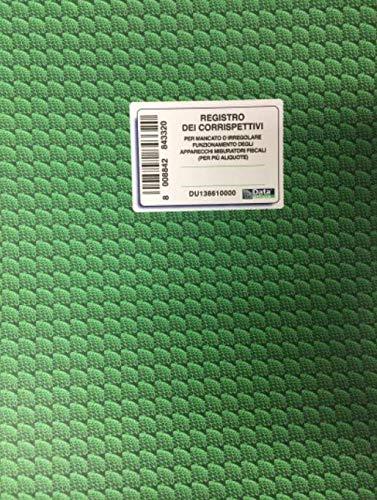 Buffetti Registro Corrispettivi e Aliquota malfunzionamento cassa DU13861000 46 Pagine 310x245