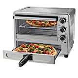 Oster Convection Oven with Dedicated Pizza Drawer, Stainless Steel (TSSTTVPZDS),Large