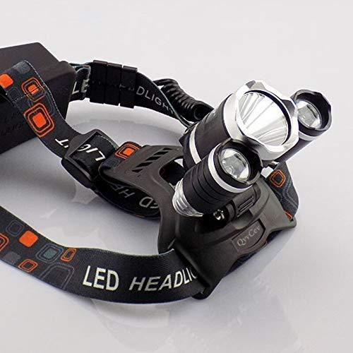 Linterna Frontal,Linterna recargable USB Linterna frontal de 8000 lm 2 * T6 + 5 * Q5 + 1 * COB LED Lámpara de cabeza Linterna Antorcha Luz de cabeza Linterna 18650 Batería