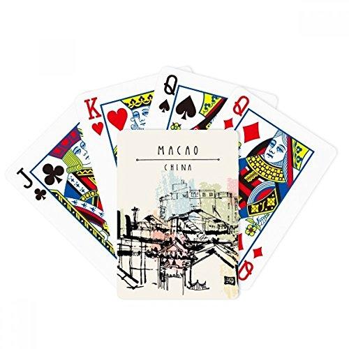 Rascacielos barrios marginales en Macao China Poker Jugando Magic Card Fun Juego de mesa