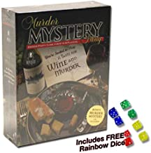 Murder Mystery Party - A Taste for Wine and Murder Plus FREE Rainbow Dice