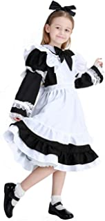 COSLAND Kids Girls' Lolita Maid Costume