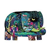 CattleBie 280 Puzzle di Contorno di Elefante, intelligenza for Lo Sviluppo di Giocattoli educativi for Bambini nella Prima Infanzia, interazione Genitore-Figlio Protezione e Protezione Ambientale
