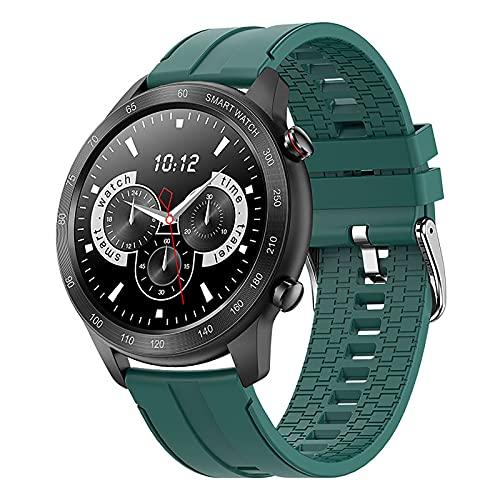 QFSLR Reloj Inteligente con Pantalla Táctil De 1.3 Pulgadas Rastreador De Ejercicios Oxígeno En Sangre Frecuencia Cardíaca Y Monitorización del Sueño Rastreador De Actividad Ip68 Smart Watch,Verde