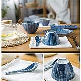 Zoom IMG-1 piatti di cena blu giapponesi