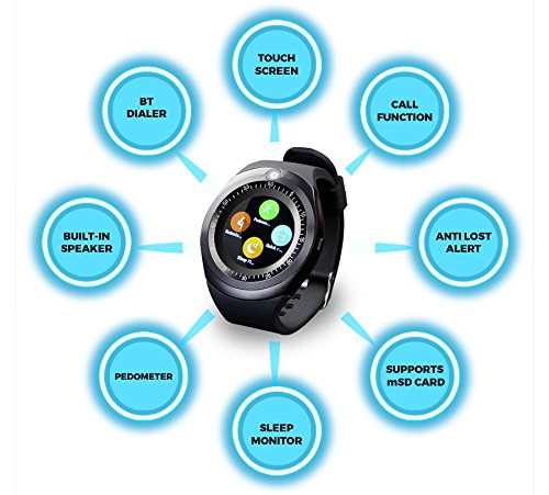 ZEBRONICS Smart Watch (Smart TIME 200) with Alarm Clock, Pedometer,Sleep Monitor, Anti...